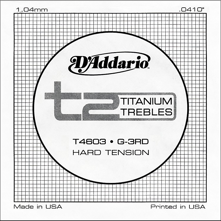 D'AddarioT4603 T2 Titanium Hard Single Guitar String