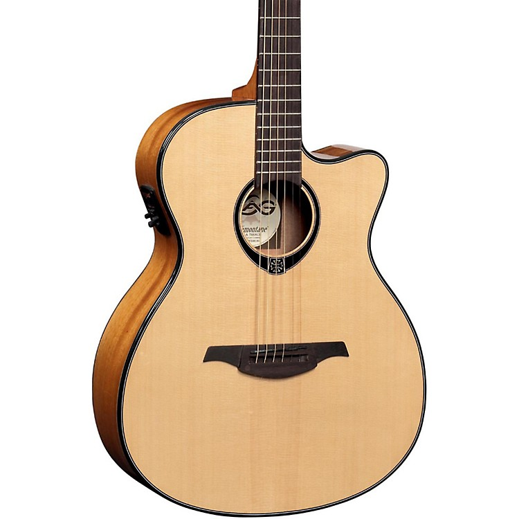 Lag GuitarsT66ACE Auditorium Cutaway Acoustic-Electric Guitar