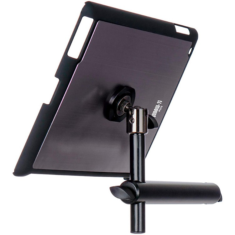 On-Stage Stands TCM9160 Tablet Mounting System with Snap-On Cover Gun Metal