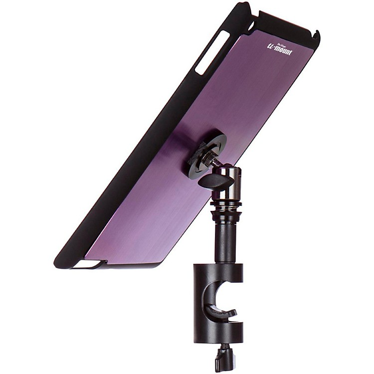 On-Stage Stands TCM9161 Quick Disconnect Tablet Mounting System with Snap-On Cover Purple