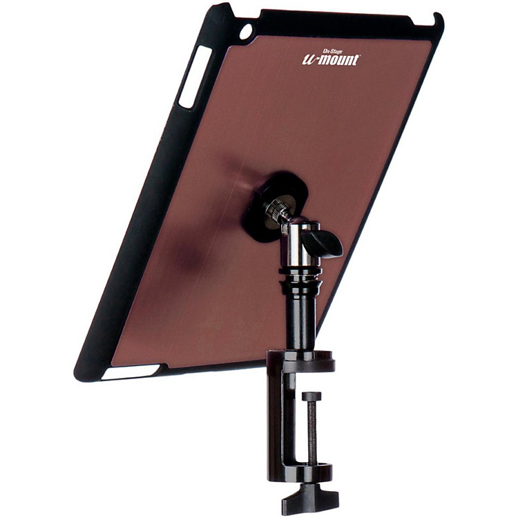 On-Stage StandsTCM9163 Quick Disconnect Table Edge Tablet Mounting System with Snap-On CoverMuave