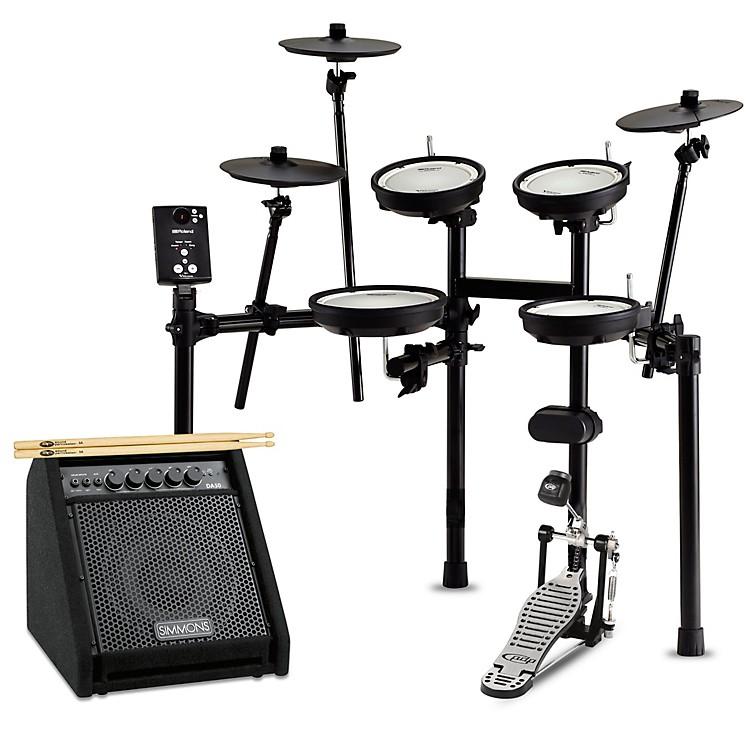 RolandTD-1DMK Electronic Drum Set with Simmons DA50B Bluetooth Monitor Starter Bundle