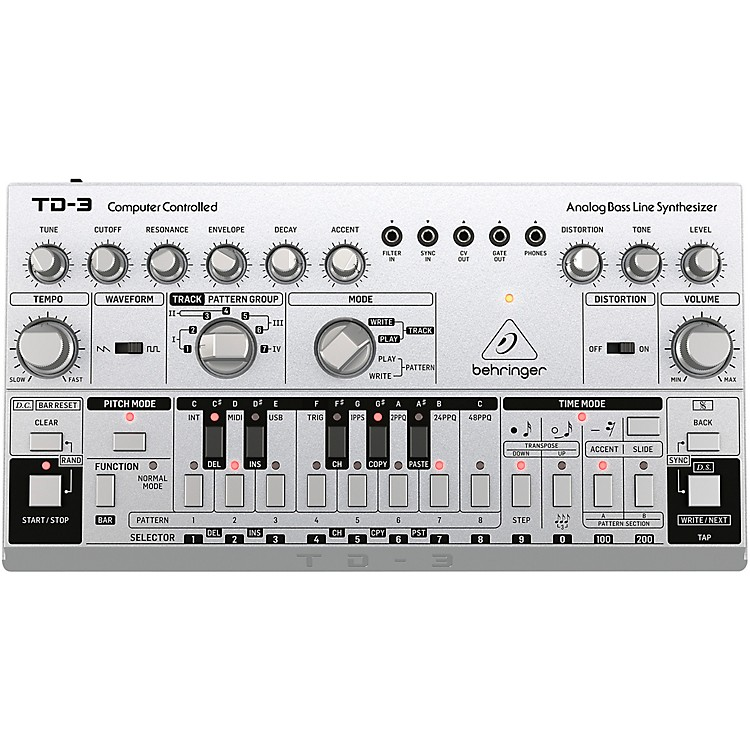 Behringer TD-3 Analog Bass Line Synthesizer Silver