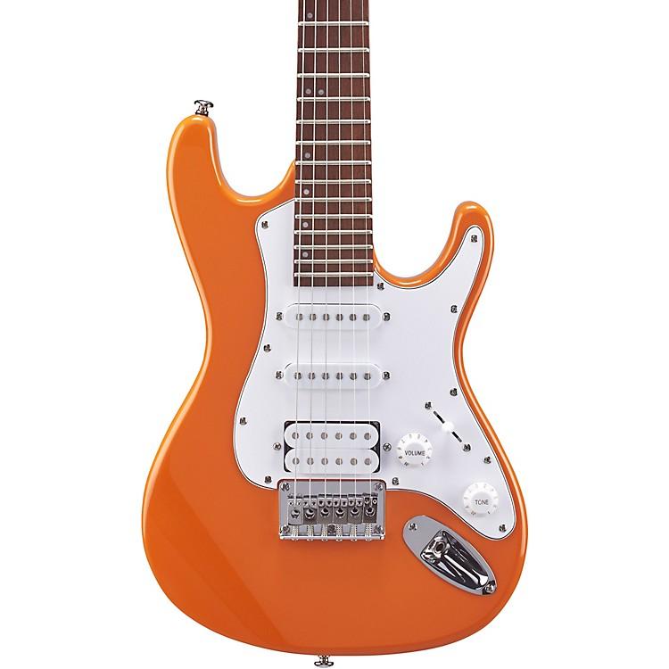 MitchellTD100 Short-Scale Electric GuitarOrange3-Ply White Pickguard
