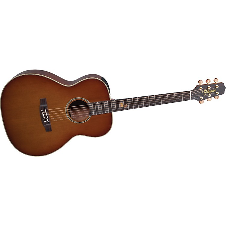 TakamineTF77PT OM Legacy Series Koa Acoustic-Electric GuitarLight Burst