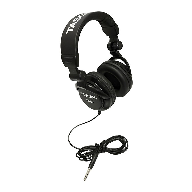TascamTH-02 Recording Studio HeadphonesBlack