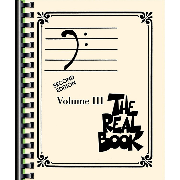Hal Leonard THE REAL BOOK VOLUME 3 C EDITION Bass Clef Edition