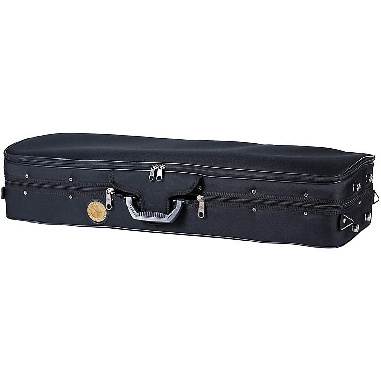 TraveliteTL-35 Deluxe Violin Case - Oblong1/4 SizeBlack Exterior, Green Interior