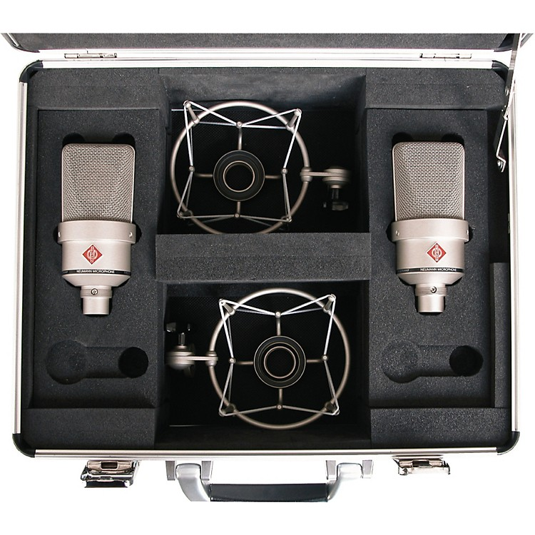 NeumannTLM 103 Anniversary Stereo Microphone PairSatin Nickel