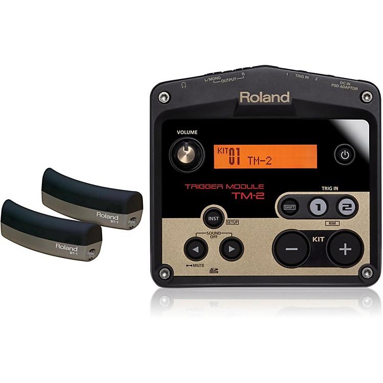RolandTM-2 Drum Trigger module with 2 BT-1 Bar Trigger pads