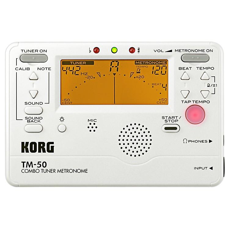 KorgTM-50 Combo Tuner/MetronomePearl White