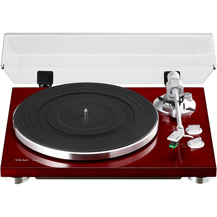 TEAC TN-300 Analog Record Player with Phono EQ and USB Red