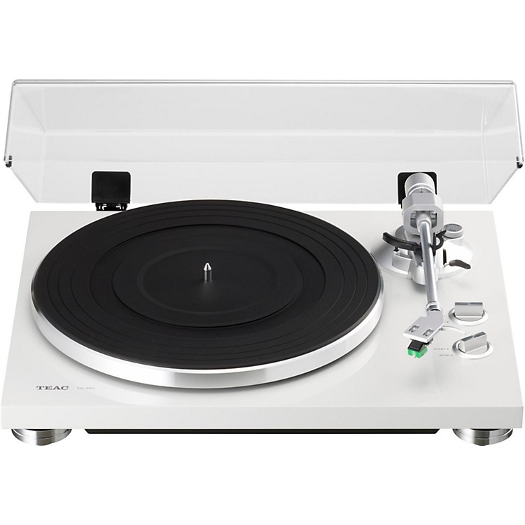 TEACTN-300 Analog Record Player with Phono EQ and USBWhite