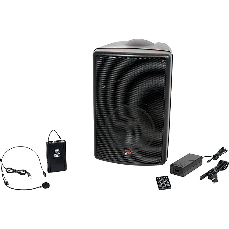 Galaxy AudioTQ8-20S0N Traveler Quest 8 All-in-one Portable Bluetooth PA System with Wireless Transmitter and Headset Microphone