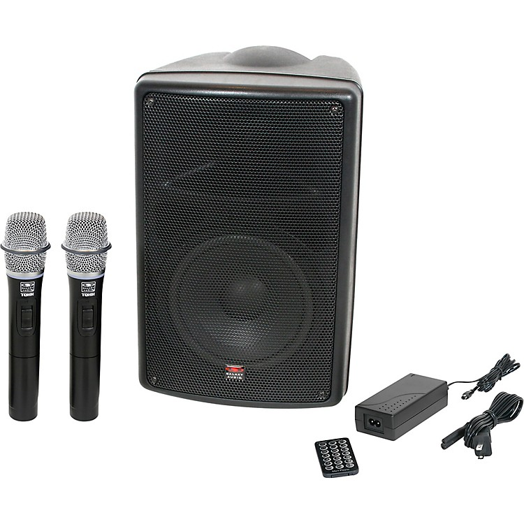 Galaxy AudioTQ8-24HHN Traveler Quest 8 TQ8 Battery Powered PA Speaker With 2 Receivers And Two Handheld Microphones