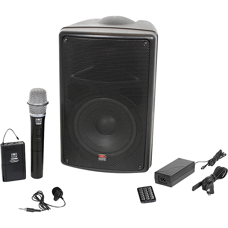 Galaxy AudioTQ8-24VHN Traveler Quest 8 TQ8 Battery Powered PA Speaker With 2 Receivers, One Lavalier and One Handheld Microphone