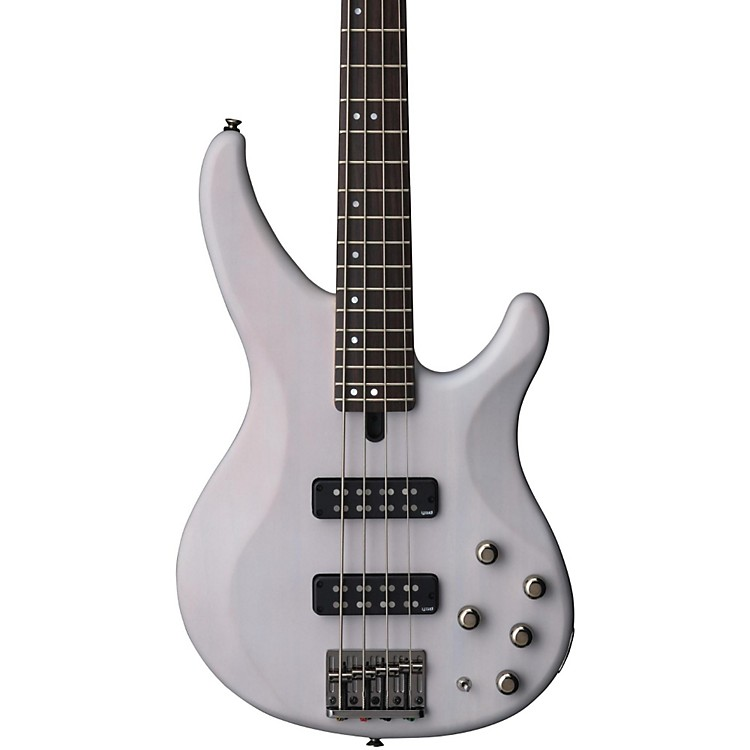 Yamaha TRBX504 4-String Premium Electric Bass Transparent White Rosewood Fretboard