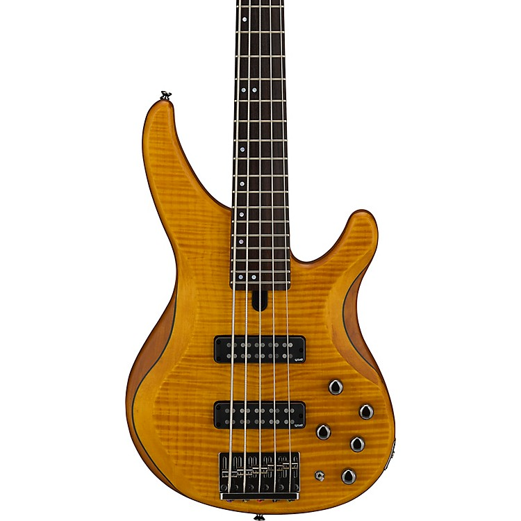 yamaha trbx605fm 5 string electric bass matte amber music123. Black Bedroom Furniture Sets. Home Design Ideas