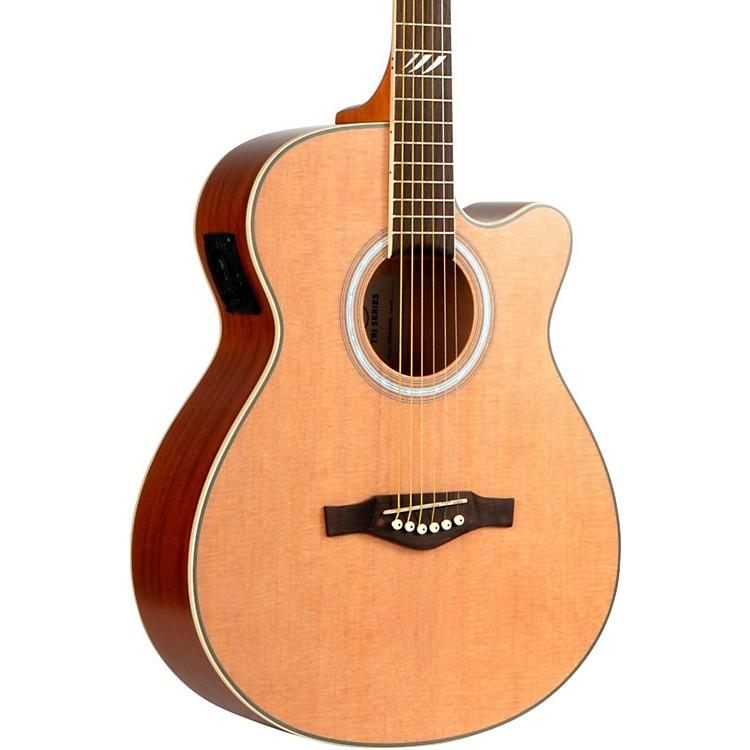 EKOTRI Series Auditorium Cutaway Acoustic-Electric GuitarNatural