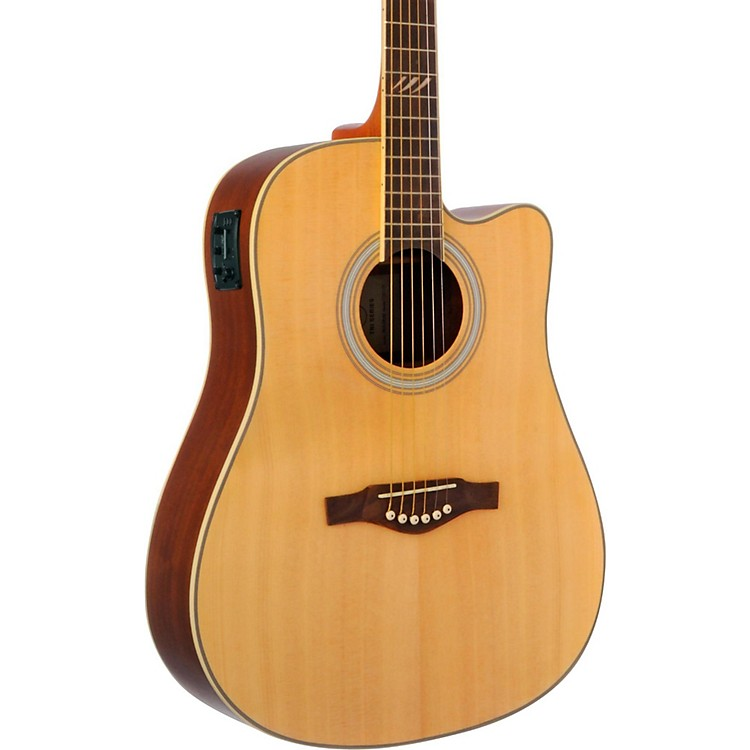 EKO TRI Series Dreadnought Cutaway Acoustic-Electric Guitar Natural