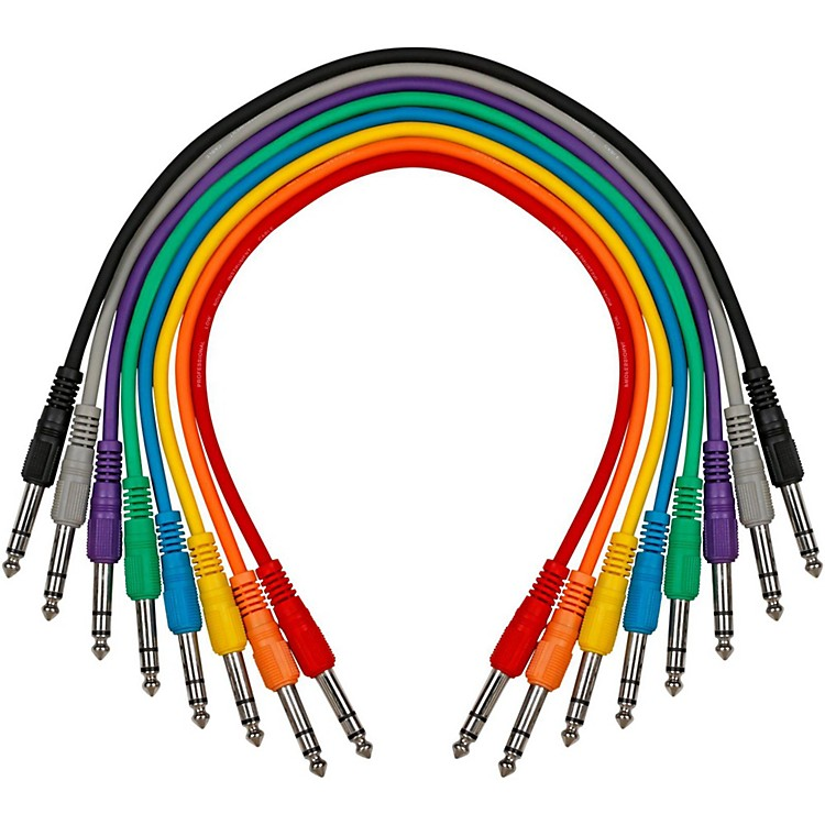 LivewireTRS-TRS Straight-Straight Patch Cable 8-Pack17 in.