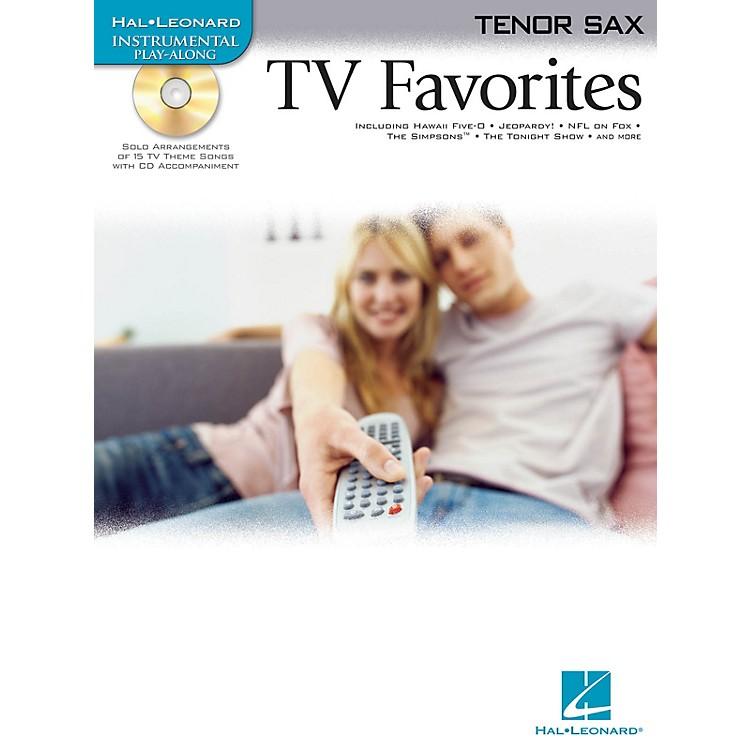Hal LeonardTV Favorites (for Tenor Sax) Instrumental Play-Along Series Book with CD