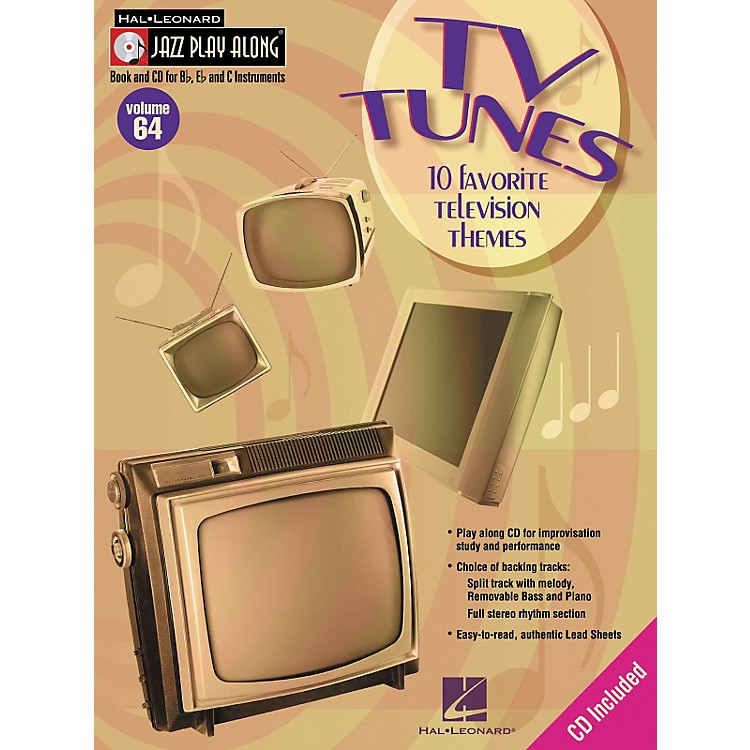 Hal LeonardTV Tunes - 10 Favorite Television Themes Jazz Play Along Volume 64 Book with CD