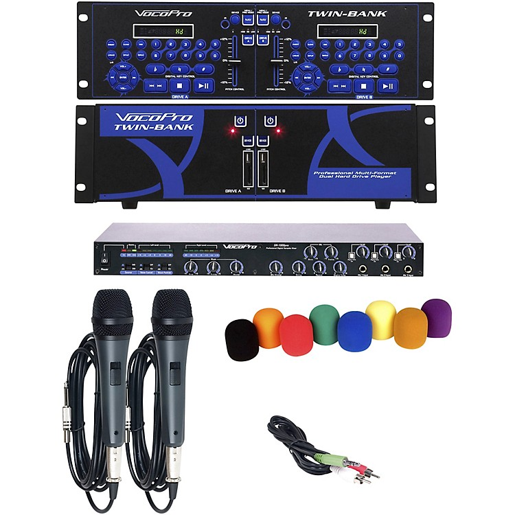 VocoPro TWIN-BANK PLUS Digital DJ Karaoke Installation System