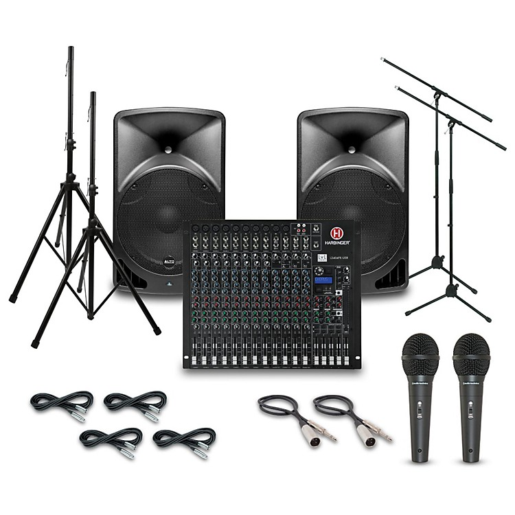 AltoTX15USB with Harbinger L1202FX Mixer PA System