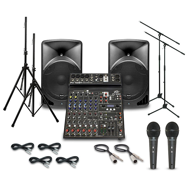 AltoTX15USB with Peavey PV10BT Mixer PA System