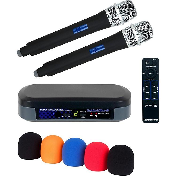 VocoProTabletOke II Digital Karaoke Mixer with Wireless Mics, Bluetooth Receiver, and Mic Wind Screens (5)