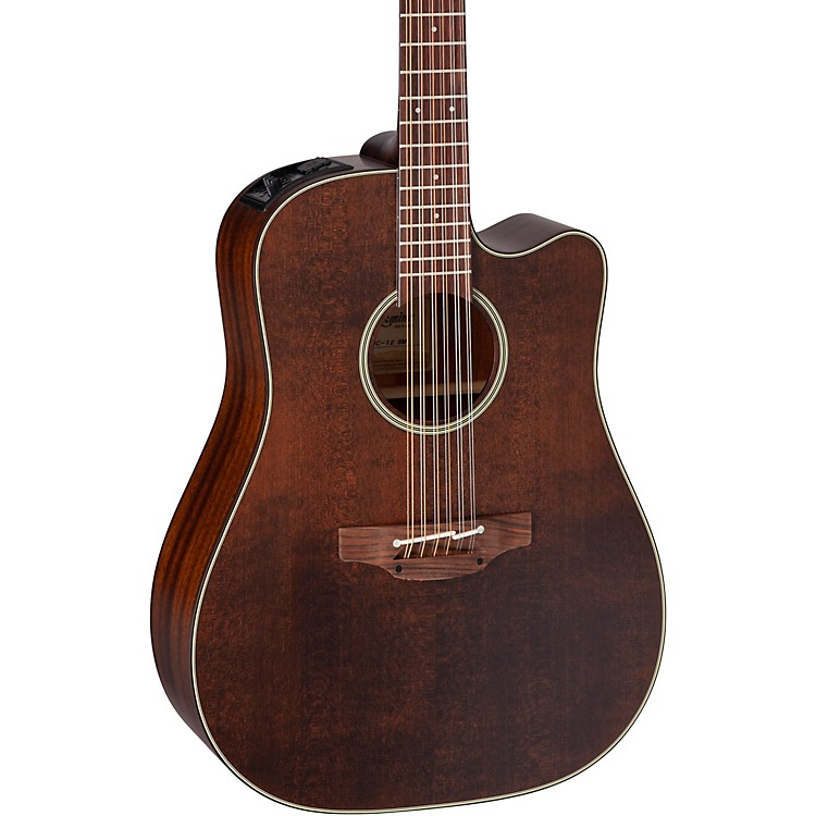 Takamine Takamine P1DC-12 SM 12-String Dreadnought Acoustic-Electric Guitar Medium Brown Stain