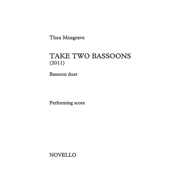 NovelloTake Two Bassoons Music Sales America Series Book by Thea Musgrave