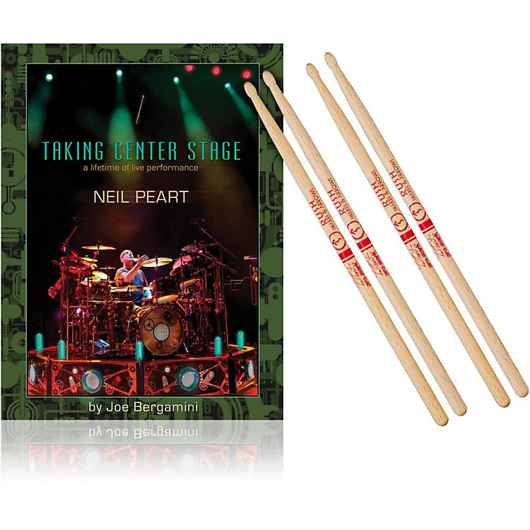 Hudson MusicTaking Center Stage Book and Neil Peart Autograph Stick Pack