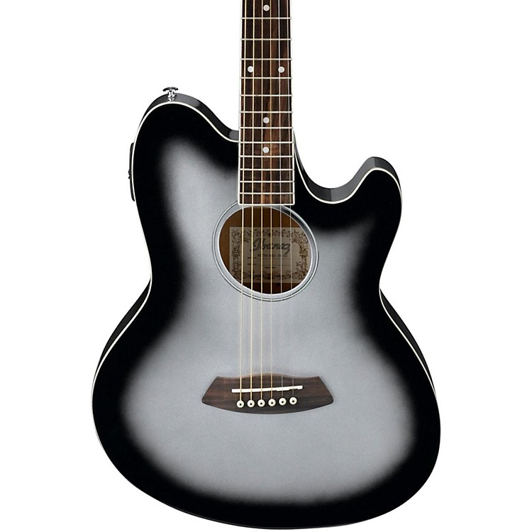 Ibanez Talman TCY10 Acoustic-Electric Guitar Silver