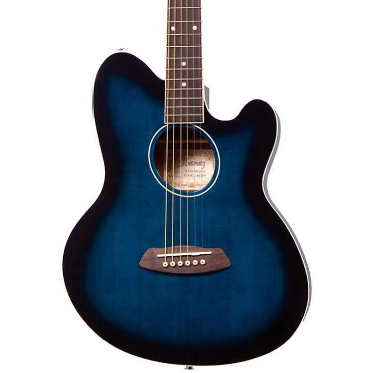 Ibanez Talman TCY10 Acoustic-Electric Guitar Transparent Blue Sunburst