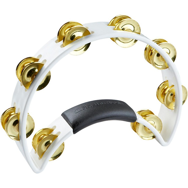 RhythmTech Tambourine with Brass Jingles Black 9.5 in.