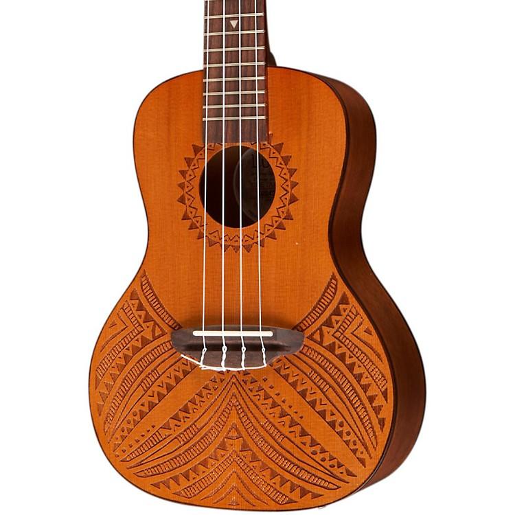 Luna GuitarsTapa Cedar Acoustic-Electric UkuleleNaturalTapa Design