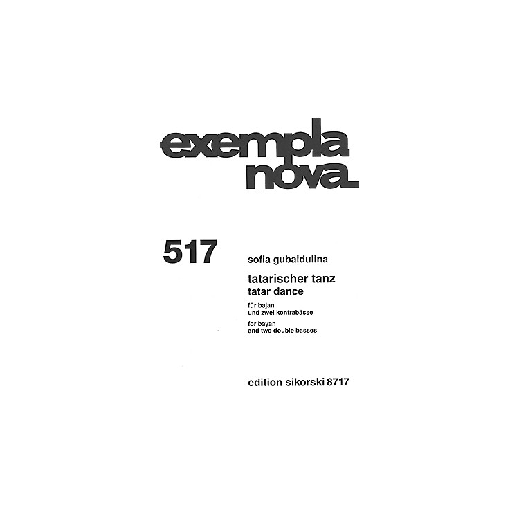 SikorskiTatar Dance (for Bayan and Two Double Basses) Ensemble Series Softcover Composed by Sofia Gubaidulina
