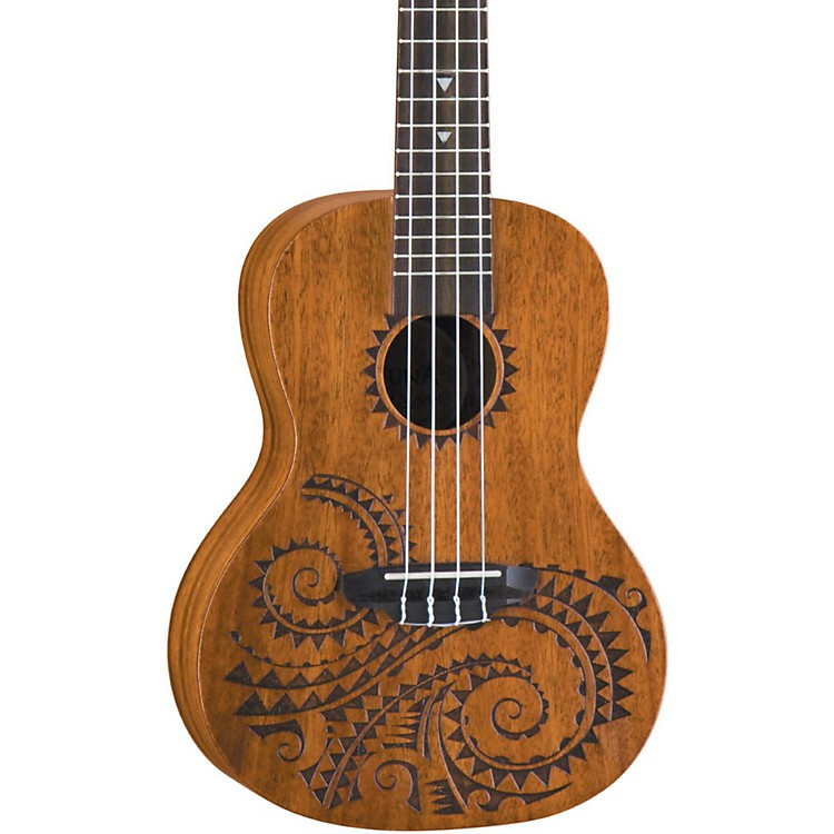 Luna GuitarsTattoo Concert Mahogany Ukulele