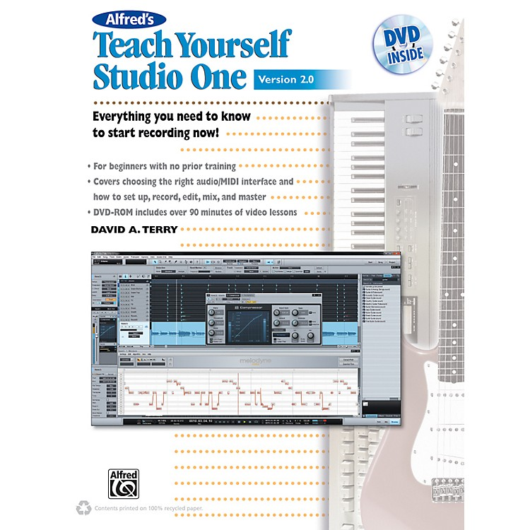 Alfred Teach Yourself Studio One Version 2.0 Book & DVD