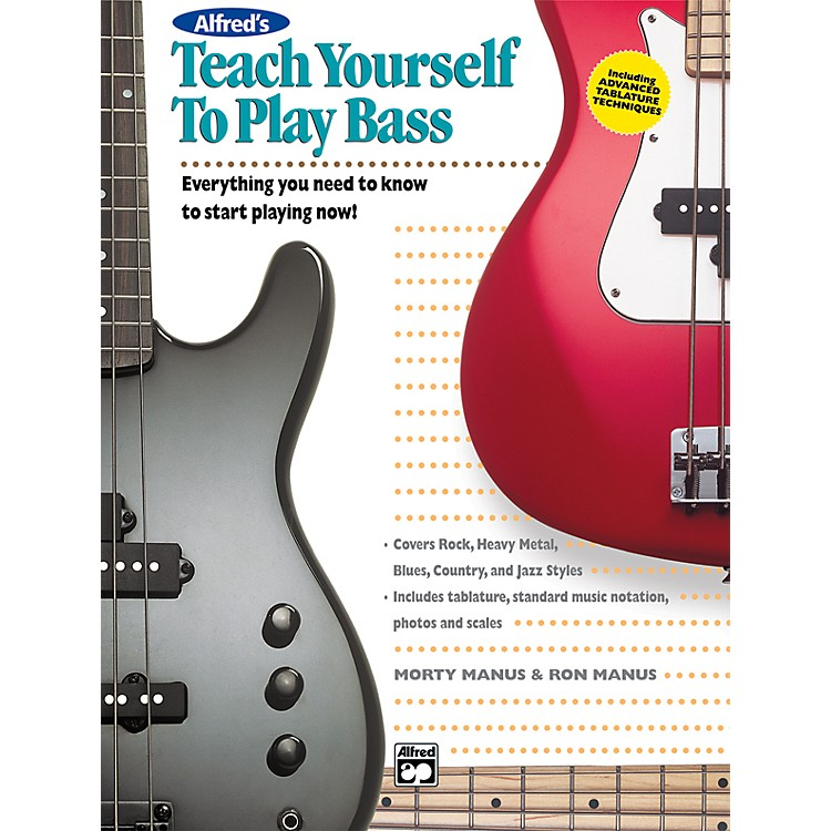 Alfred Teach Yourself To Play Bass (Book/CD)