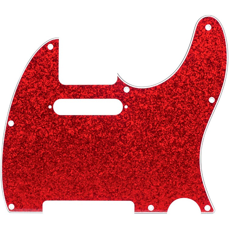 D'Andrea Tele Pickguard Red Sparkle