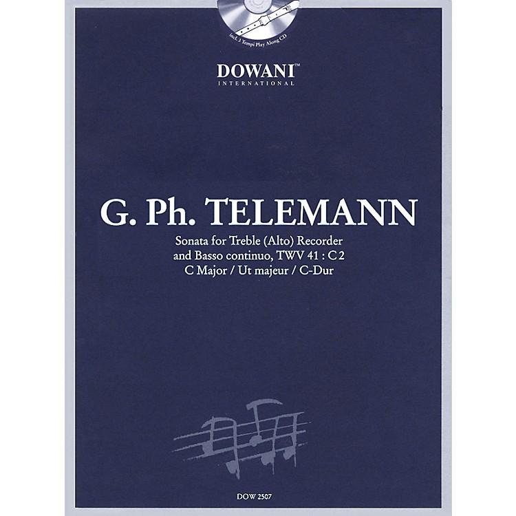 Dowani EditionsTelemann: Sonata in C Major for Treble (Alto) Recorder and Basso Continuo TWV41:C2 Dowani Book/CD Series