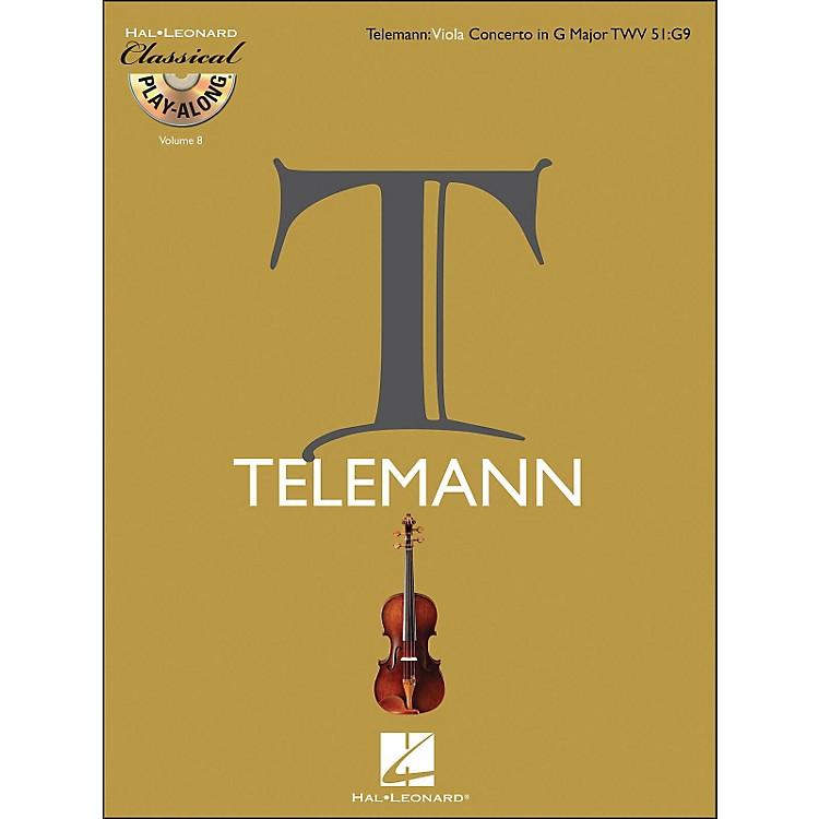 Hal LeonardTelemann: Viola Concerto In G Major, Twv 51:G9 Classical Play-Along Book/CD Vol.8