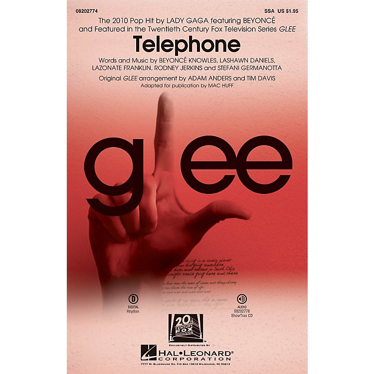 Hal LeonardTelephone (featured in Glee) ShowTrax CD by Glee Cast Arranged by Adam Anders