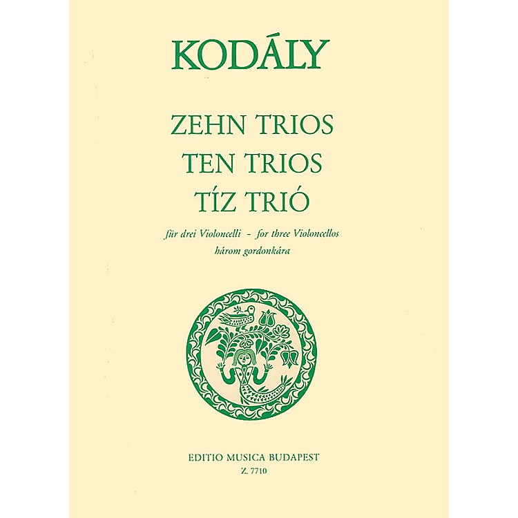 Editio Musica BudapestTen Trios (from 33 Two-Part Exercises) (Three Cellos) EMB Series Composed by Zoltán Kodály