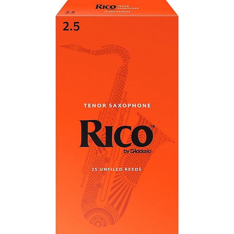 Rico Tenor Saxophone Reeds, Box of 25 Strength 2.5