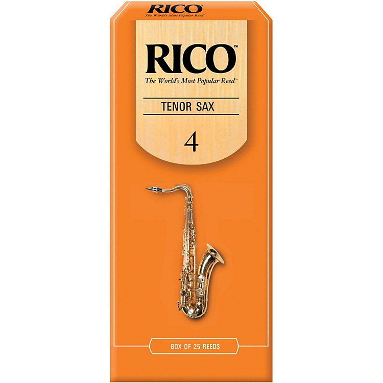 Rico Tenor Saxophone Reeds, Box of 25 Strength 4