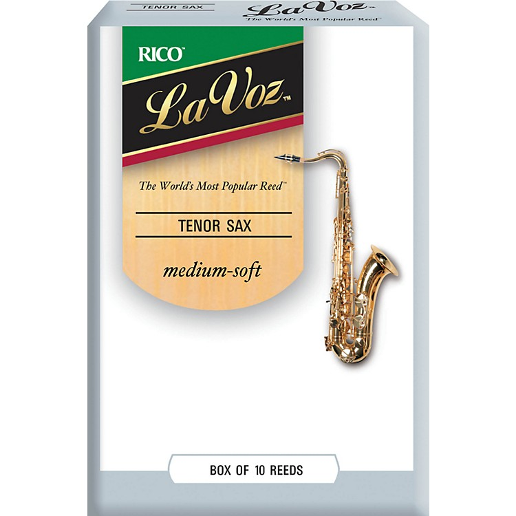 La Voz Tenor Saxophone Reeds Medium Soft Box of 10